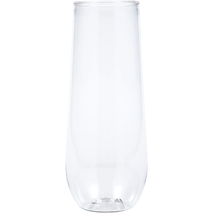 Clear Plastic Champagne Flutes, 9 Oz, 4 ct by Creative Converting