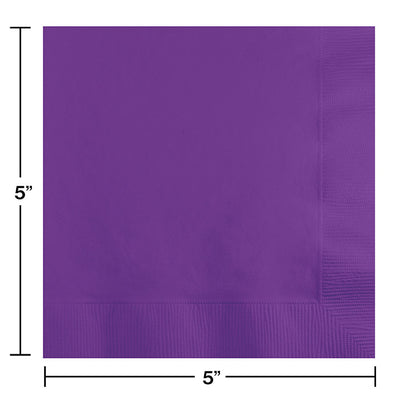 Amethyst Beverage Napkin, 3 Ply, 50 ct Party Decoration