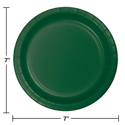 Hunter Green Dessert Plates, 24 ct Party Decoration