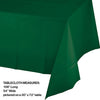 "Hunter Green Tablecover Plastic 54"" X 108"" Party Decoration"