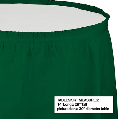 "Hunter Green Plastic Tableskirt, 14' X 29"" Party Decoration"