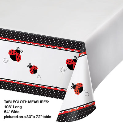 "Ladybug Fancy Tablecover Plastic 54"" X 108"" Party Decoration"