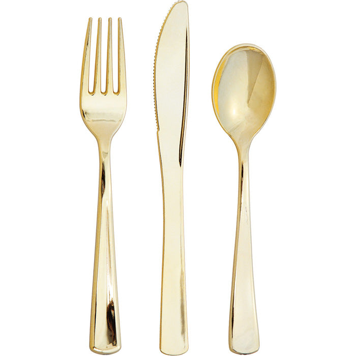 Assorted Cutlery, Metallic Gold, 24 ct by Creative Converting