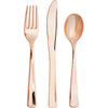 Assorted Cutlery, Metallic Rosegold, 24 ct by Creative Converting