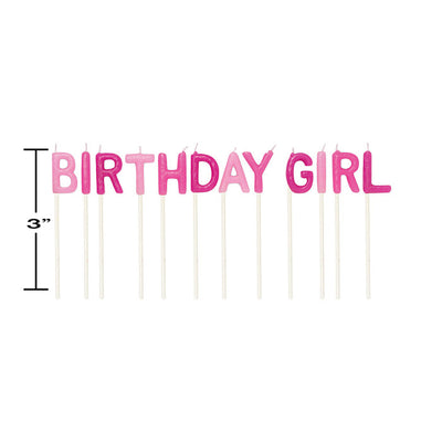 Birthday Girl Pick Candles, 12 ct Party Decoration