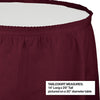 "Burgundy Plastic Tableskirt, 14' X 29"" Party Decoration"