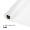 "White Banquet Roll 40"" X 250' Party Decoration"