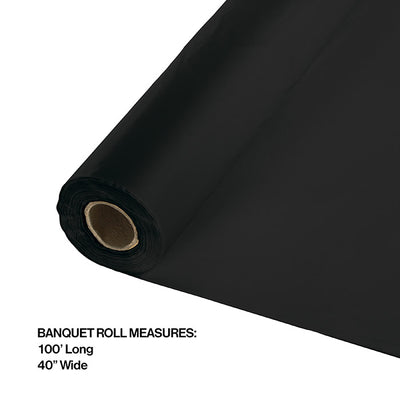 "Black Velvet Banquet Roll 40"" X 100' Party Decoration"