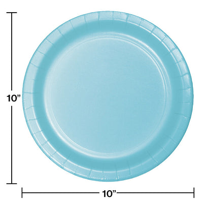 Pastel Blue Banquet Plates, 24 ct Party Decoration
