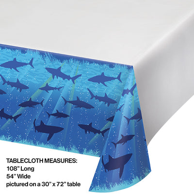 "Shark Splash Tablecover Plastic 54"" X 108"" Party Decoration"