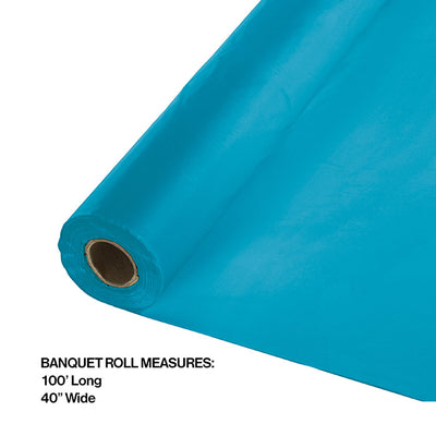 "Turquoise Banquet Roll 40"" X 100' Party Decoration"