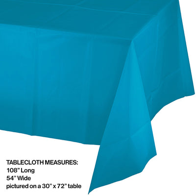 "Turquoise Tablecover Plastic 54"" X 108"" Party Decoration"