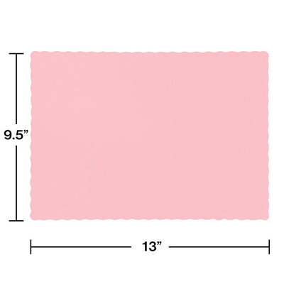 Classic Pink Placemats, 50 ct Party Decoration