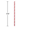 Classic Red Striped Paper Straws, 24 ct Party Decoration