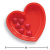 Red Heart Plastic Serving Tray Party Decoration