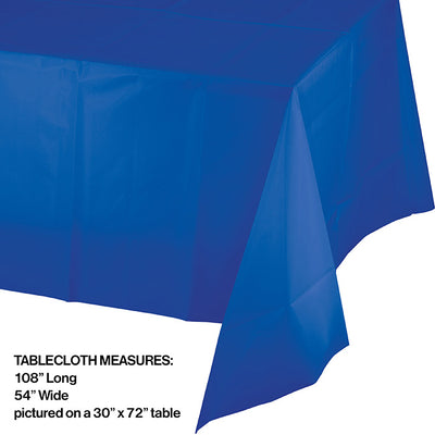 "Cobalt Tablecover Plastic 54"" X 108"" Party Decoration"
