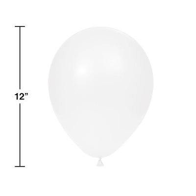 "Latex Balloons 12"" White, 15 ct Party Decoration"