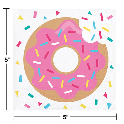 Donut Time Beverage Napkins, 16 ct Party Decoration