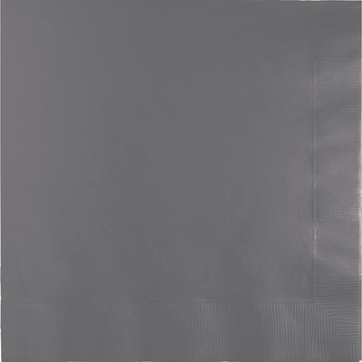 Glamour Gray Dinner Napkins 3Ply 1/4Fld, 25 ct by Creative Converting