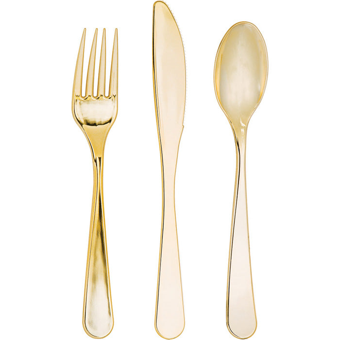 Gold Assorted Plastic Cutlery, 24 ct by Creative Converting