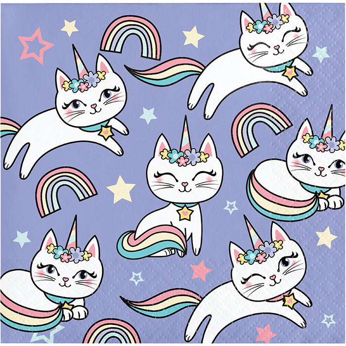 Sassy Caticorn Beverage Napkins 16ct by Creative Converting