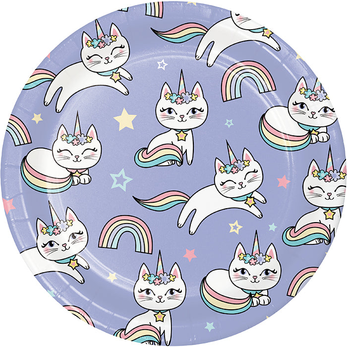Sassy Caticorn Luncheon Plate 8ct by Creative Converting