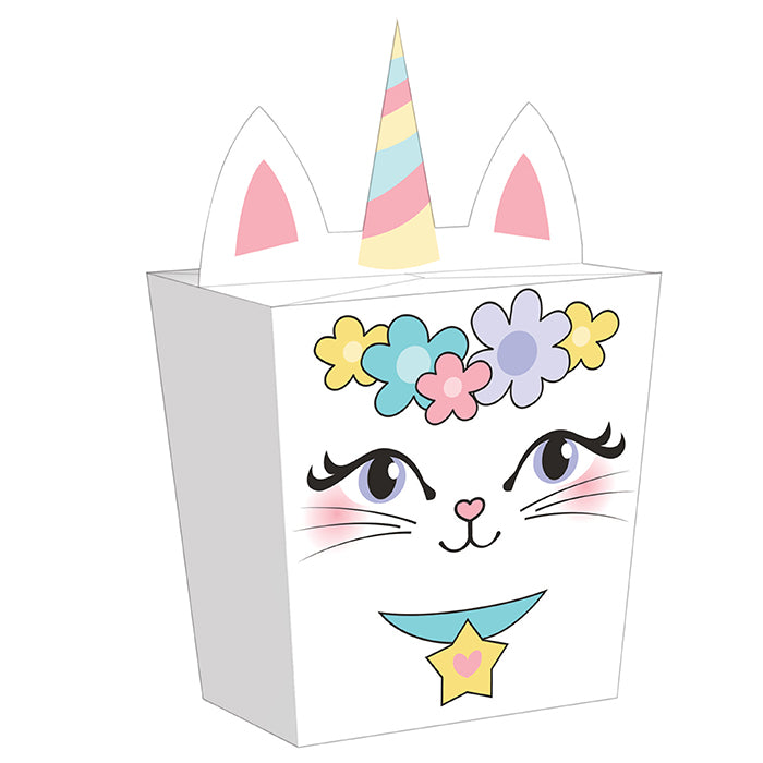 Sassy Caticorn Favor Box 8ct by Creative Converting