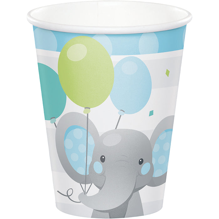 Enchanting Elephants Boy Hot/Cold Cups 9Oz. 8ct by Creative Converting