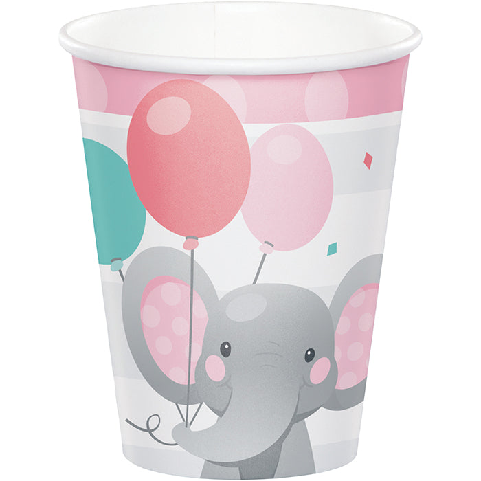 Enchanting Elephants Girl Hot/Cold Cups 9Oz. 8ct by Creative Converting