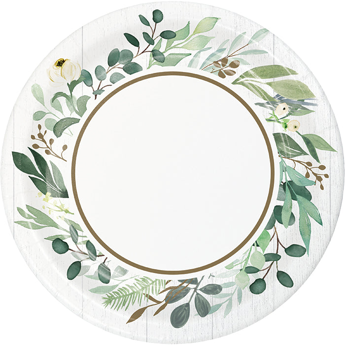 Eucalyptus Greens Dessert Plate 8ct by Creative Converting