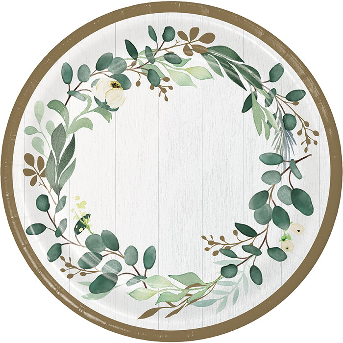 Eucalyptus Greens Dinner Plate 8ct by Creative Converting