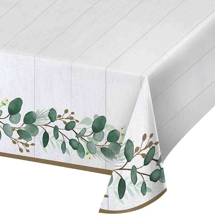 "Eucalyptus Greens Paper Tablecover 54"" X 102"" by Creative Converting"