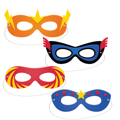 Superhero Party Foam Masks 4ct by Creative Converting