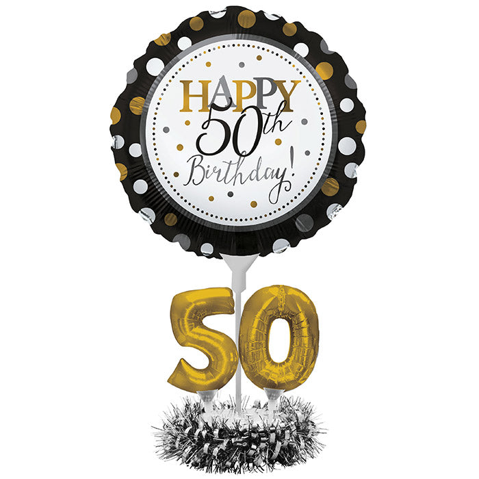 50th Birthday Balloon Centerpiece Kit by Creative Converting