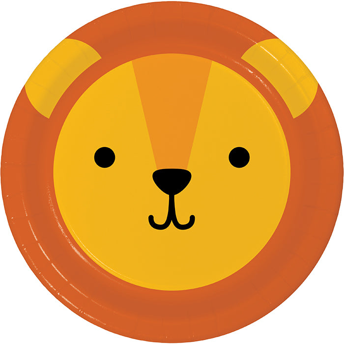Animal Faces Luncheon Plate, Lion 8ct by Creative Converting
