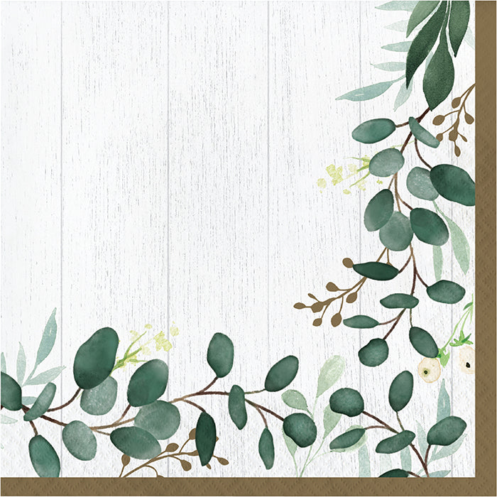 Eucalyptus Greens Luncheon Napkin 16ct by Creative Converting