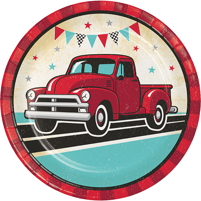 Vintage Red Truck Dinner Plate 8ct by Creative Converting