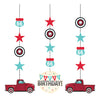 Vintage Red Truck Hanging Cutouts 3ct by Creative Converting