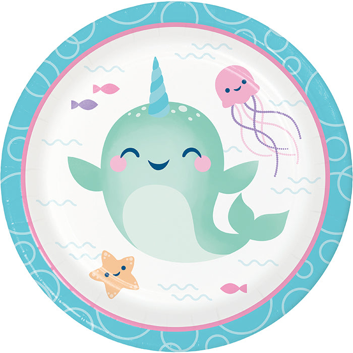 Narwhal Party Luncheon Plate 8ct by Creative Converting