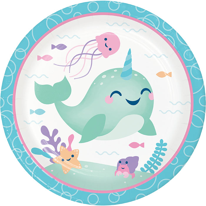 Narwhal Party Dinner Plate 8ct by Creative Converting