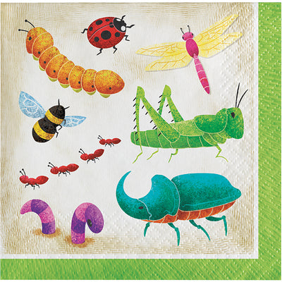 Birthday Bugs Beverage Napkins 16ct by Creative Converting