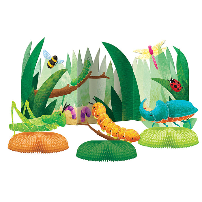 Birthday Bugs Centerpiece 3D W/ Hc 4ct by Creative Converting