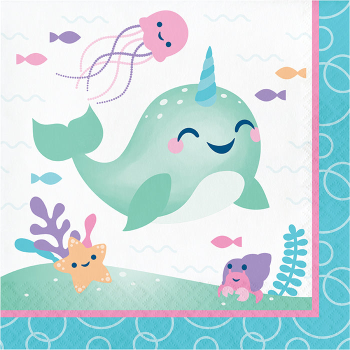 Narwhal Party Luncheon Napkin 16ct by Creative Converting