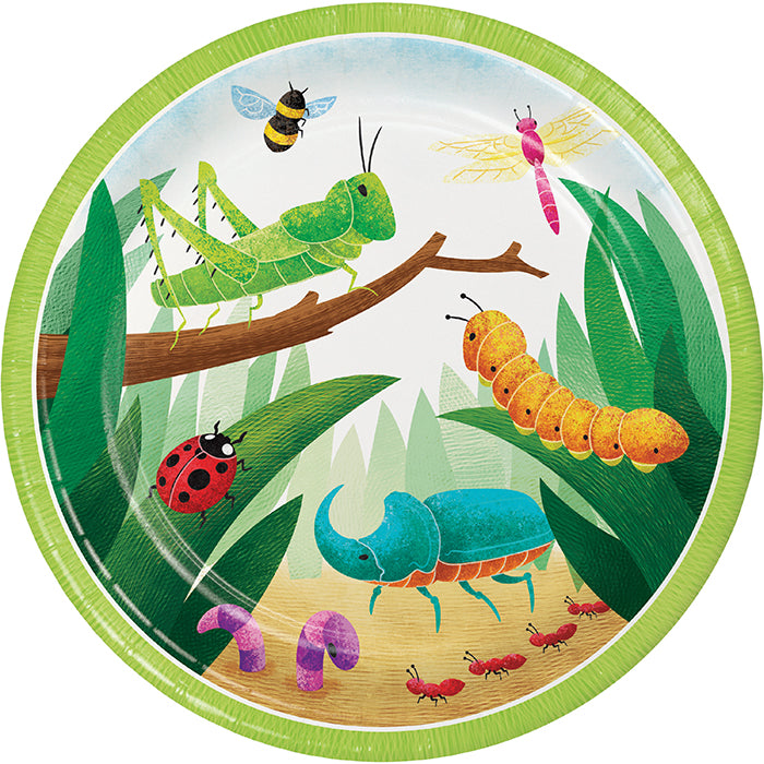 Birthday Bugs Dinner Plate 8ct by Creative Converting