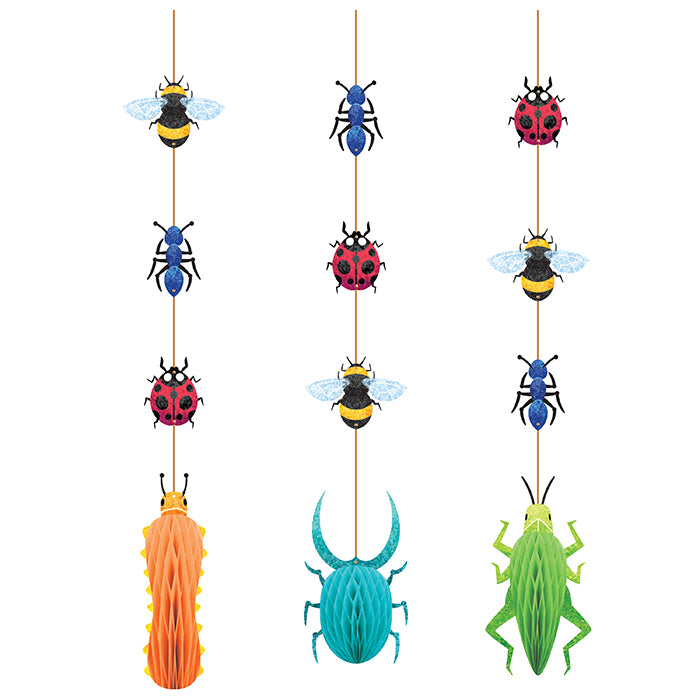 Birthday Bugs Hanging Cutouts W/ Honeycomb 3ct by Creative Converting