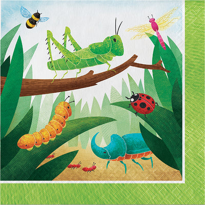 Birthday Bugs Luncheon Napkin 16ct by Creative Converting