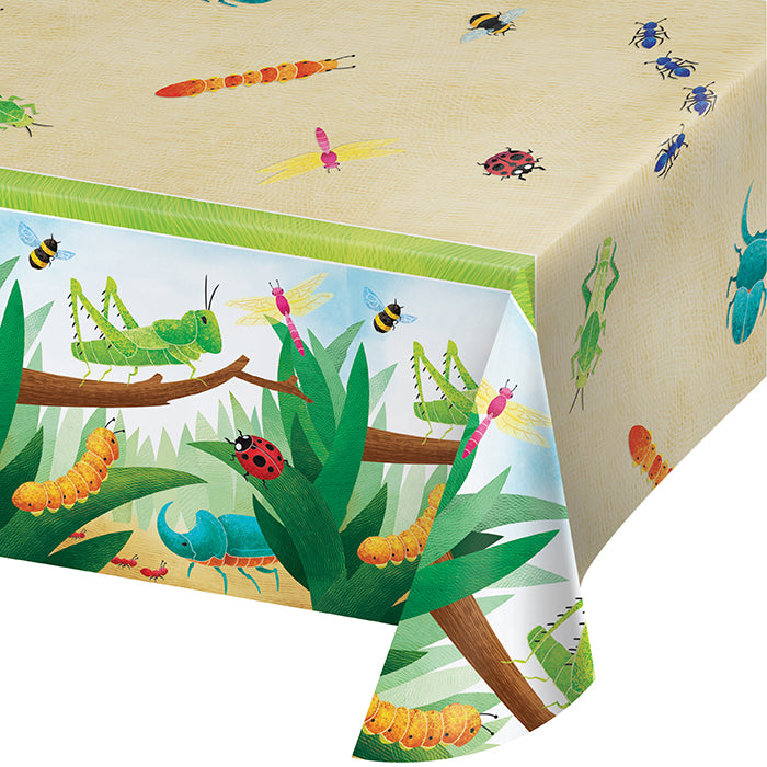 "Birthday Bugs Paper Tablecover 54"" X 102"" by Creative Converting"