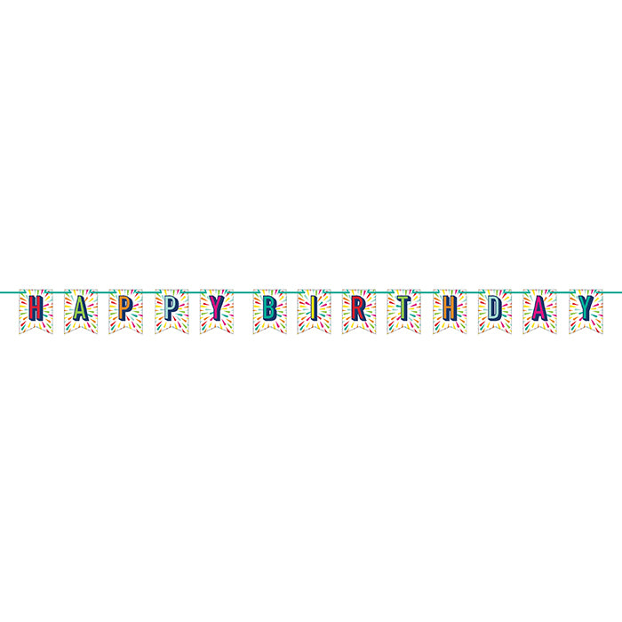 Birthday Burst Shaped Banner With Ribbon by Creative Converting