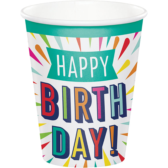Birthday Burst Hot/Cold Cups 9Oz. 8ct by Creative Converting