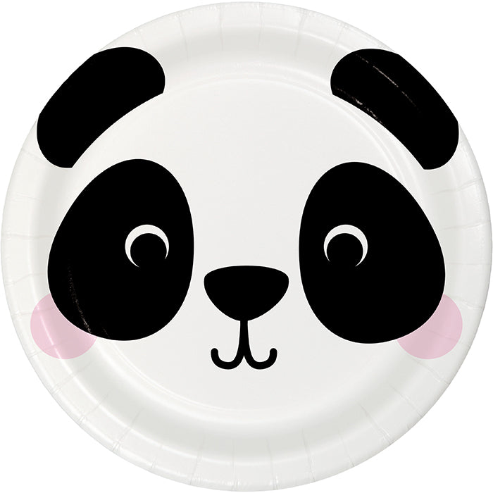 Animal Faces Luncheon Plate, Panda 8ct by Creative Converting